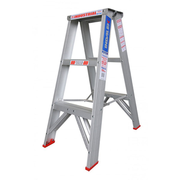 Indalex Tradesman Aluminium Double Sided Step Ladder 0.9m 3ft