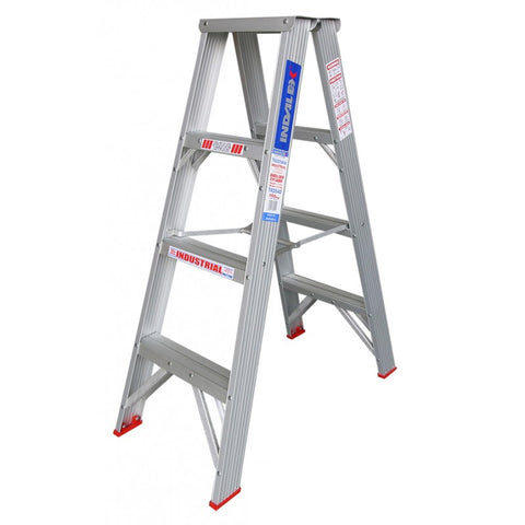 Indalex Tradesman Aluminium Double Sided Step Ladder 1.2m 4ft