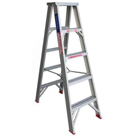 Indalex Tradesman Aluminium Double Sided Step Ladder 1.5m 5ft