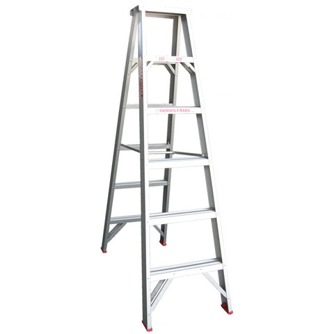 Indalex Tradesman Aluminium Double Sided Step Ladder 1.8m 6ft