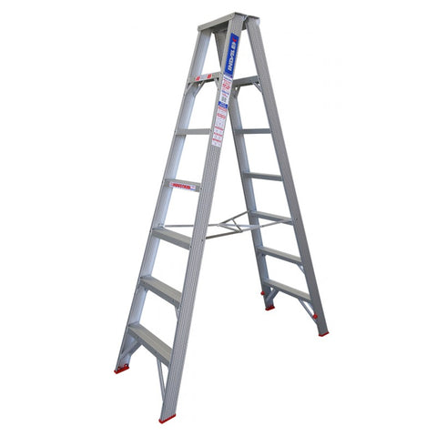Indalex Tradesman Aluminium Double Sided Step Ladder 2.1m 7ft