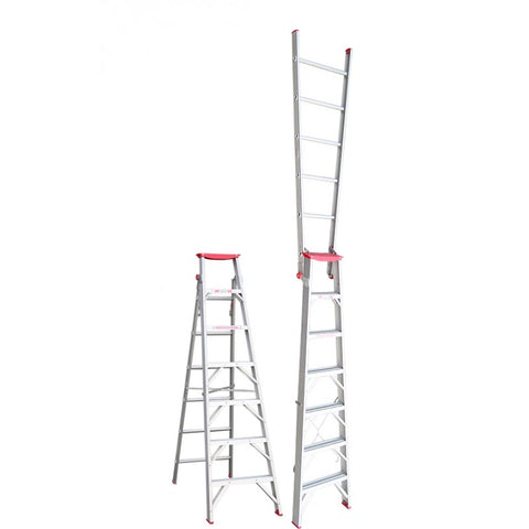 Indalex Tradesman Aluminium Dual Purpose Ladder 7ft 2.1m - 3.8m
