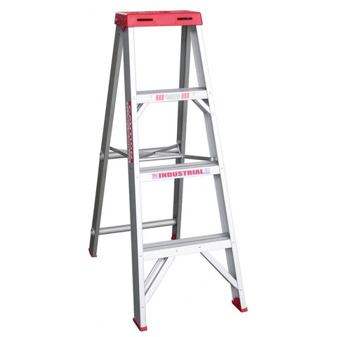 Indalex Tradesman Aluminium Single Sided Step Ladder 1.2m 4ft