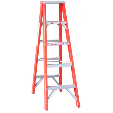 Indalex Tradesman Fibreglass Double Sided Step Ladder 1.5m 5ft