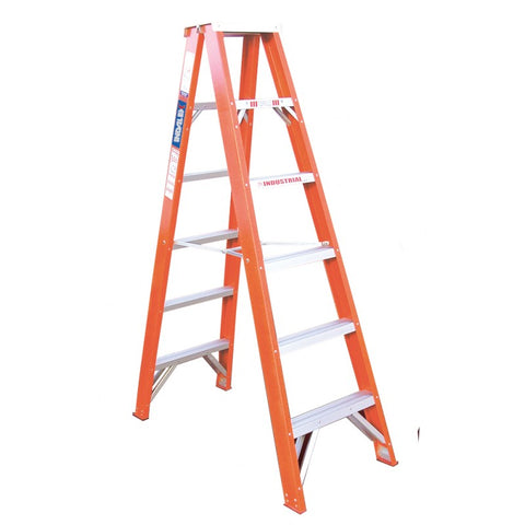 Indalex Tradesman Fibreglass Double Sided Step Ladder 1.8m 6ft