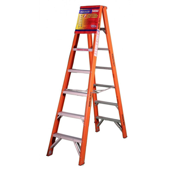 Indalex Tradesman Fibreglass Double Sided Step Ladder 2.4m 8ft