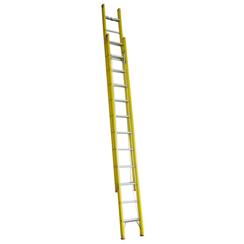 Indalex Tradesman Fibreglass Extension Ladder 4.0m - 6.7m 22ft