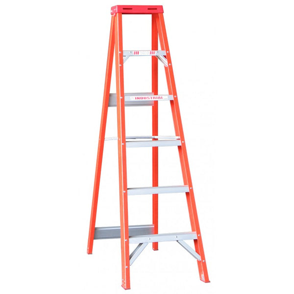 Indalex Tradesman Fibreglass Single Sided Step Ladder 2.1m 7ft