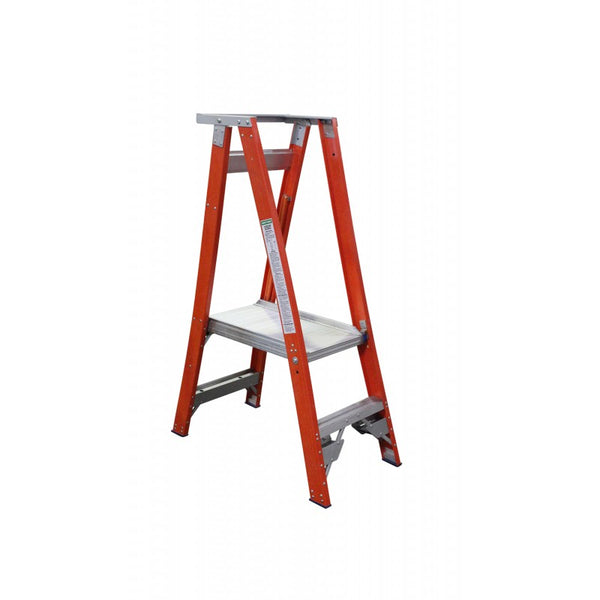 Indalex Pro-Series Fibreglass 2 Step 0.6m Platform Ladder (1.5m Rail)