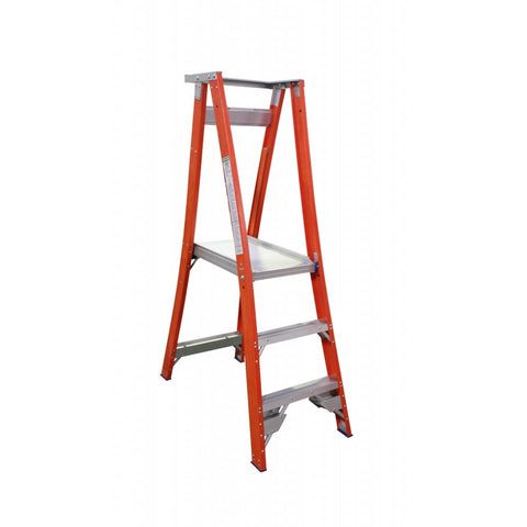 Indalex Pro-Series Fibreglass 3 Step 0.9m Platform Ladder (1.8m Rail)