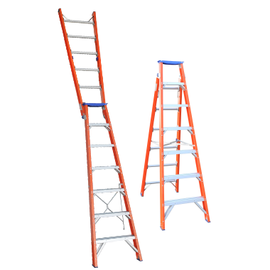 Indalex Pro-Series Fiberglass Dual Purpose Ladder 1.8-3.2m - Access World - 1