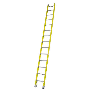 Indalex Pro-Series Fibreglass Single Ladder 4.9m/16f - Access World - 1