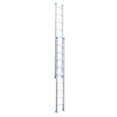 Indalex Pro-Series Aluminium Extension Ladder with Swivel Feet 5.0-9.0m - Access World
