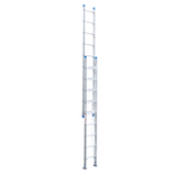 Indalex Pro-Series Aluminium Extension Ladder with Swivel Feet 3.8-6.6m - Access World