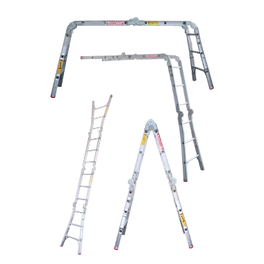 Indalex Tradesman Aluminium Multipurpose Ladder 2-4m - Access World
