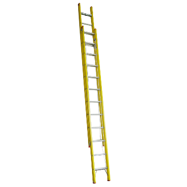 Indalex Tradesman Fibreglass Extension Ladder 4.9m-8.2m - Access World - 1