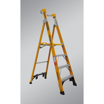 Gorilla Platform ladder Fibreglass 8 Step (Platform Height 2.4m) 150kg Industrial