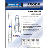 "Indalex Pro-Series Aluminium Dual Purpose ""Up n Up"" Ladder 1.8m-3.2m - Access World - 2"