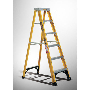 Gorilla Single sided A-frame ladder 2.4m (8ft) 150kg Industrial Fibreglass