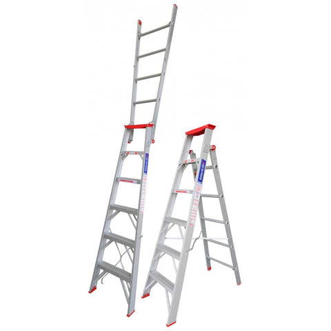 Indalex Tradesman Aluminium Dual Purpose Ladder 6ft 1.8m - 3.2m