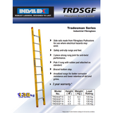 Indalex Tradesman Fibreglass Single Ladder 4.2m/14f - Access World - 2