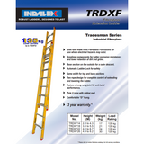 Indalex Tradesman Fibreglass Extension Ladder 3.4-5.5m - Access World - 2