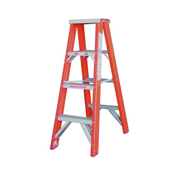 Indalex Pro-Series Fibreglass Double Sided Step Ladder 1.2m 4ft