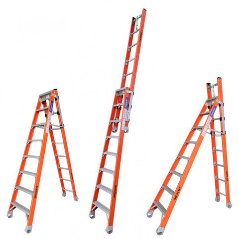 Indalex Pro-Series Fibreglass Step Extension Ladder 2.4m - 4.3m