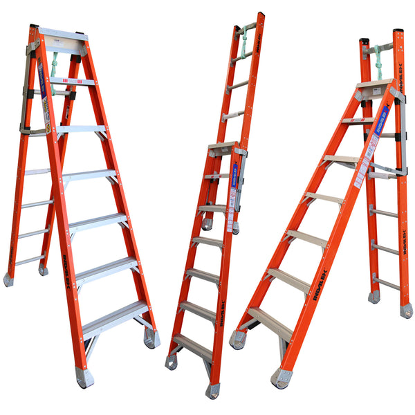 Indalex Pro-Series Fibreglass Step Extension Ladder 2.1m - 3.7m