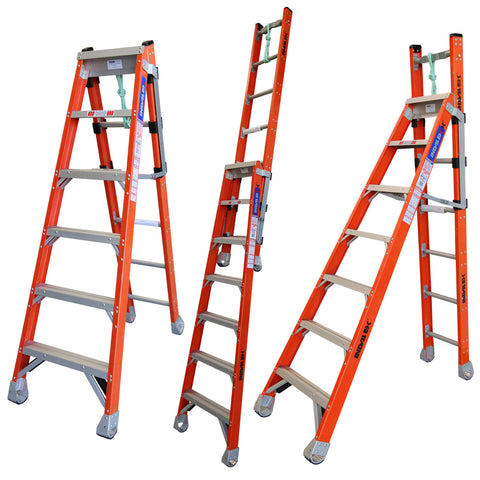 Indalex Pro-Series Fibreglass Step Extension Ladder 1.8m - 3m