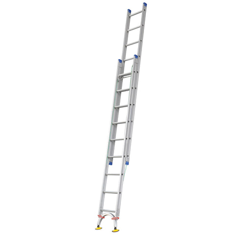 Indalex Pro Series Aluminium Extension Ladder 3.2m - 5.3m with Level-Arc