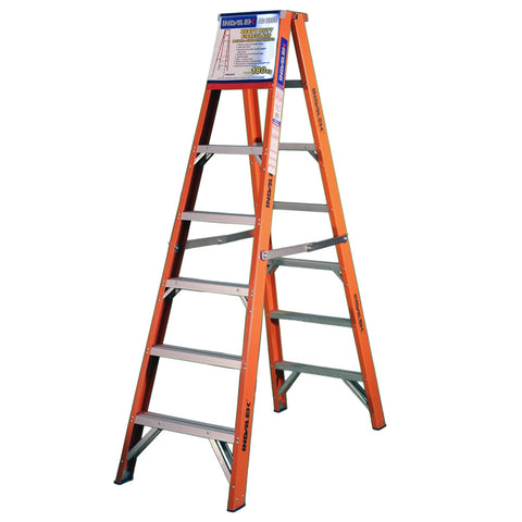 Indalex Pro-Series Fibreglass Double Sided Step Ladder 2.1m 7ft