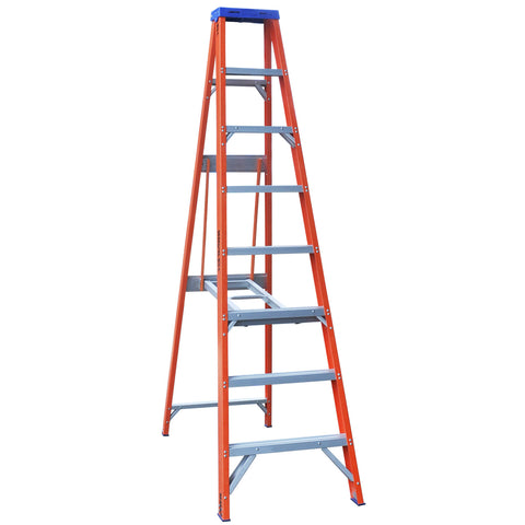 Indalex Pro-Series Fibreglass Single Sided Step Ladder 2.4m 8ft