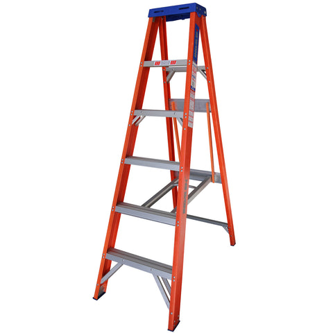 Indalex Pro-Series Fibreglass Single Sided Step Ladder 1.8m 6ft