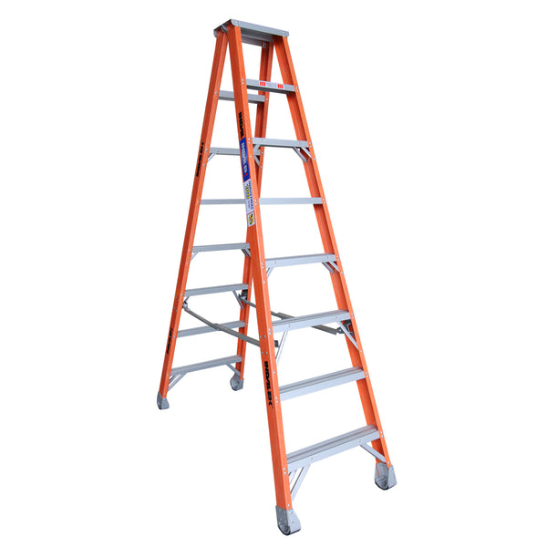 Indalex Pro-Series Fibreglass Double Sided Step Ladder 2.4m 8ft