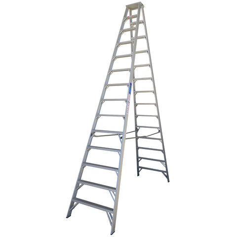 Indalex Pro Series Aluminium Double Sided Step Ladder 4.3m 14ft