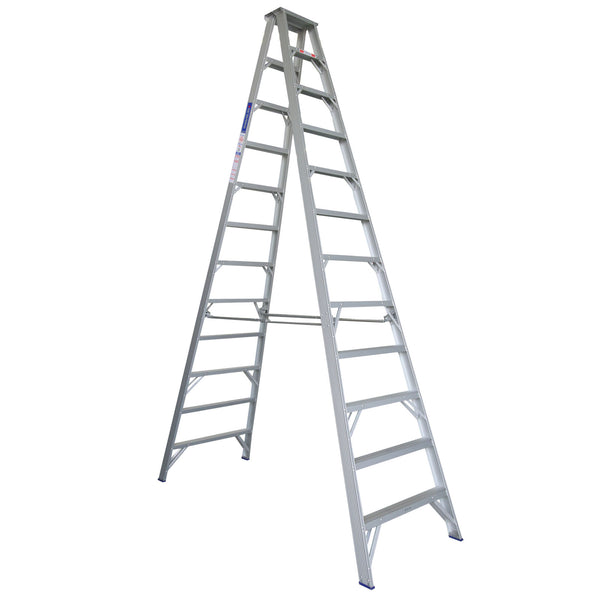 Indalex Pro Series Aluminium Double Sided Step Ladder 3.7m 12ft