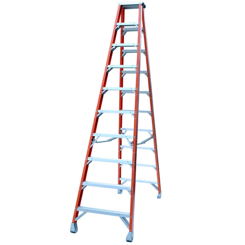 Indalex Pro-Series Fibreglass Double Sided Step Ladder 3m 10ft