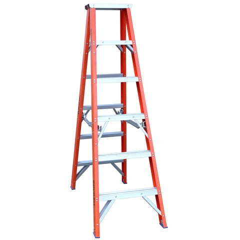 Indalex Pro-Series Fibreglass Double Sided Step Ladder 1.8m 6ft