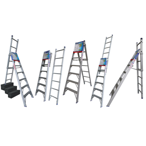 Indalex Pro Series Aluminium 5 Way Combination Ladder 1.8m - 3.2m