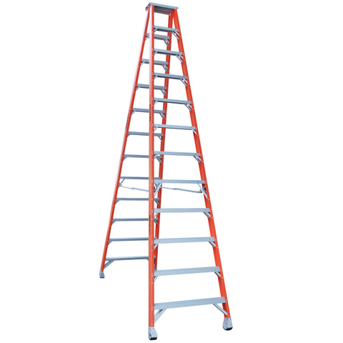 Indalex Pro-Series Fibreglass Double Sided Step Ladder 3.7m 12ft