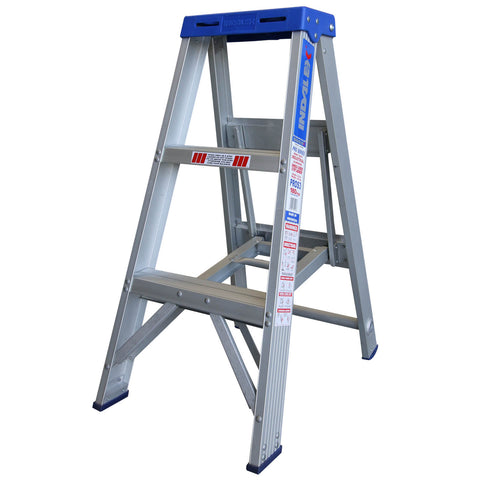 Indalex Pro-Series Aluminium Single Sided Step Ladder 0.9m 3ft