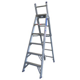 Indalex Pro Series Aluminium 5 Way Combination Ladder 2.4m - 4.1m