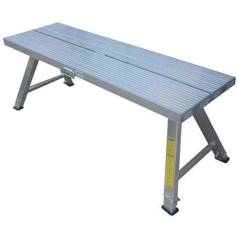 Aluminium Stool 2.0 m Double Wide Adj Legs