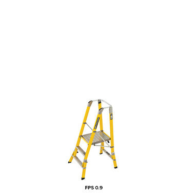 Branach WorkMaster Wide 550mm 3 Step Platform Ladder (Platform Height 0.9m)