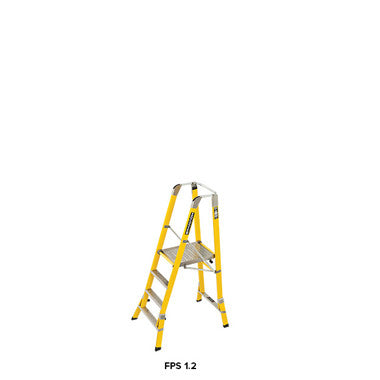 Branach WorkMaster 450mm 4 Step Platform Ladder (Platform Height 1.2m)