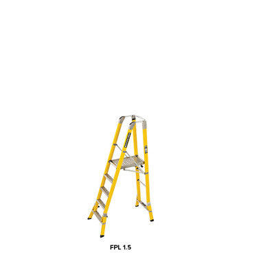 Branach WorkMaster 450mm 5 Step Platform Ladder (Platform Height 1.5m)