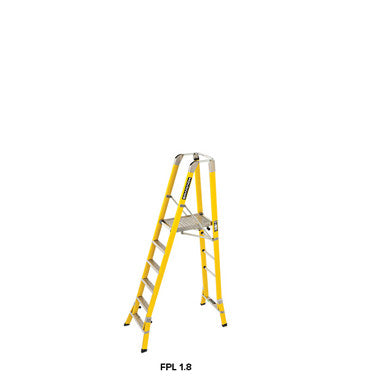Branach WorkMaster Wide 550mm 6 Step Platform Ladder (Platform Height 1.8m)