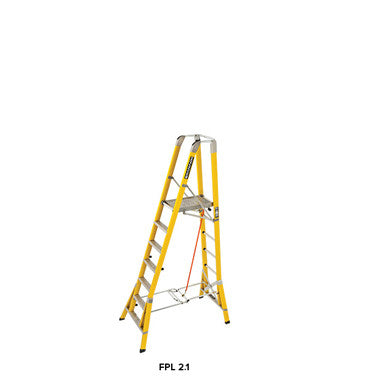 Branach WorkMaster Wide 550mm 7 Step Platform Ladder (Platform Height 2.1m)