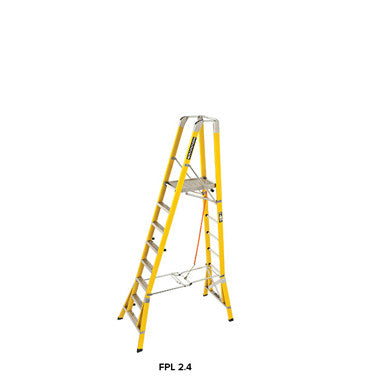 Branach WorkMaster Wide 550mm 8 Step Platform Ladder (Platform Height 2.4m)